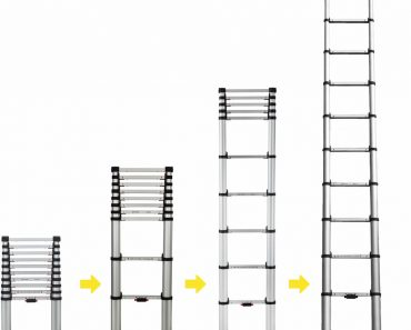 Safetly Locking Mechanism Telescopic Ladder