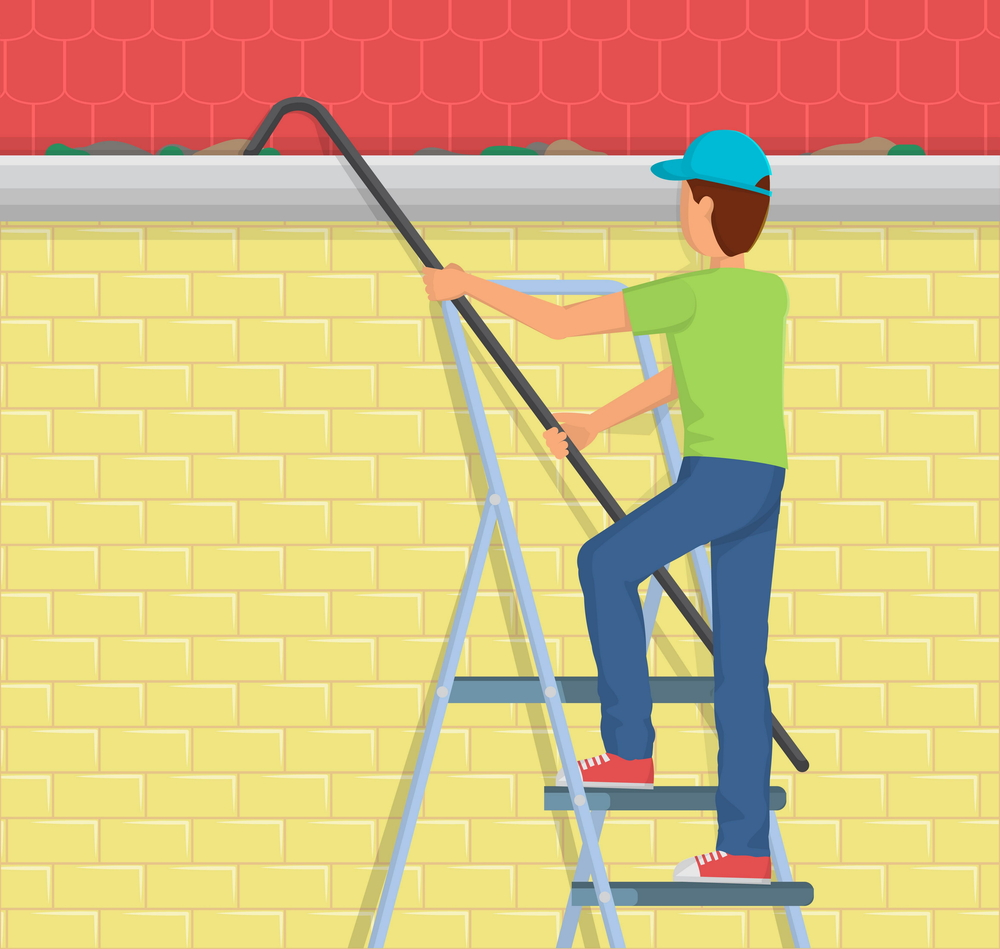 Ladder for general home use like cleaning gutters.