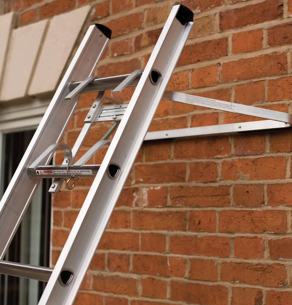 Can I rest a ladder against a window?