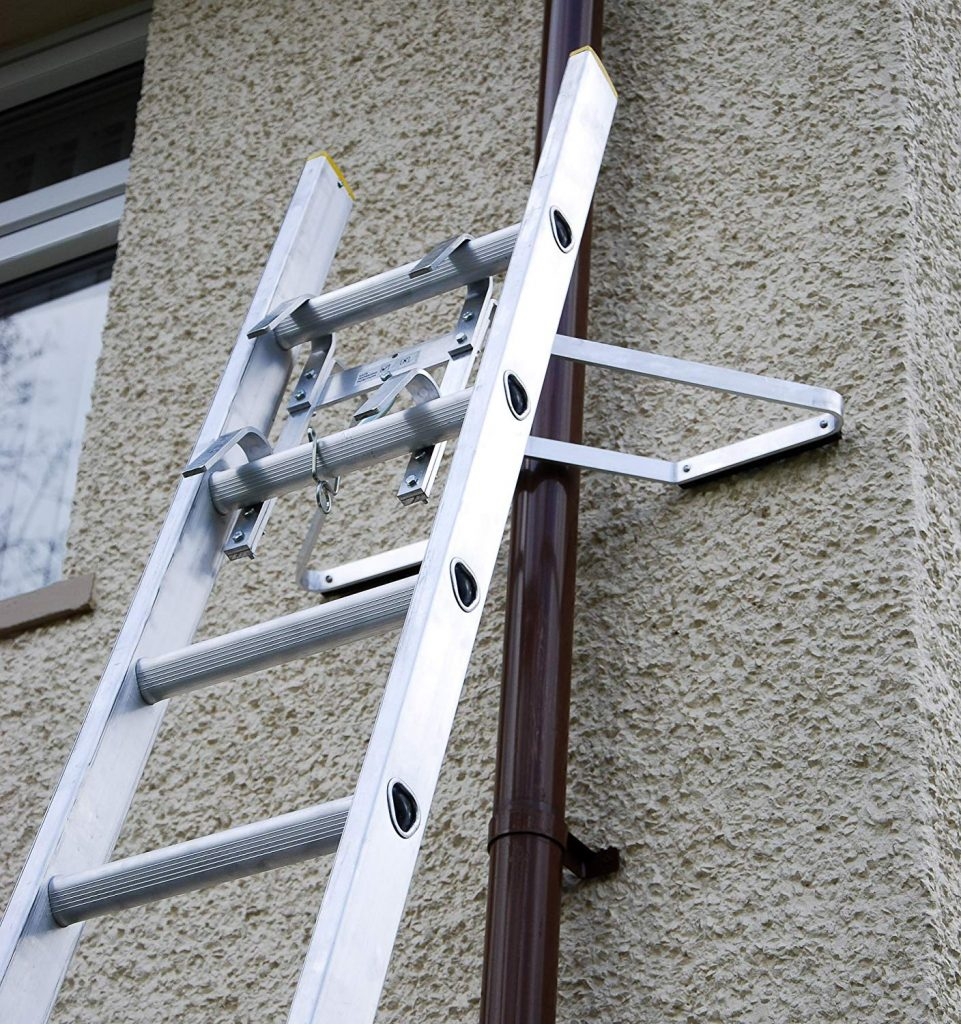 Can I rest a ladder against a window - no you should not.