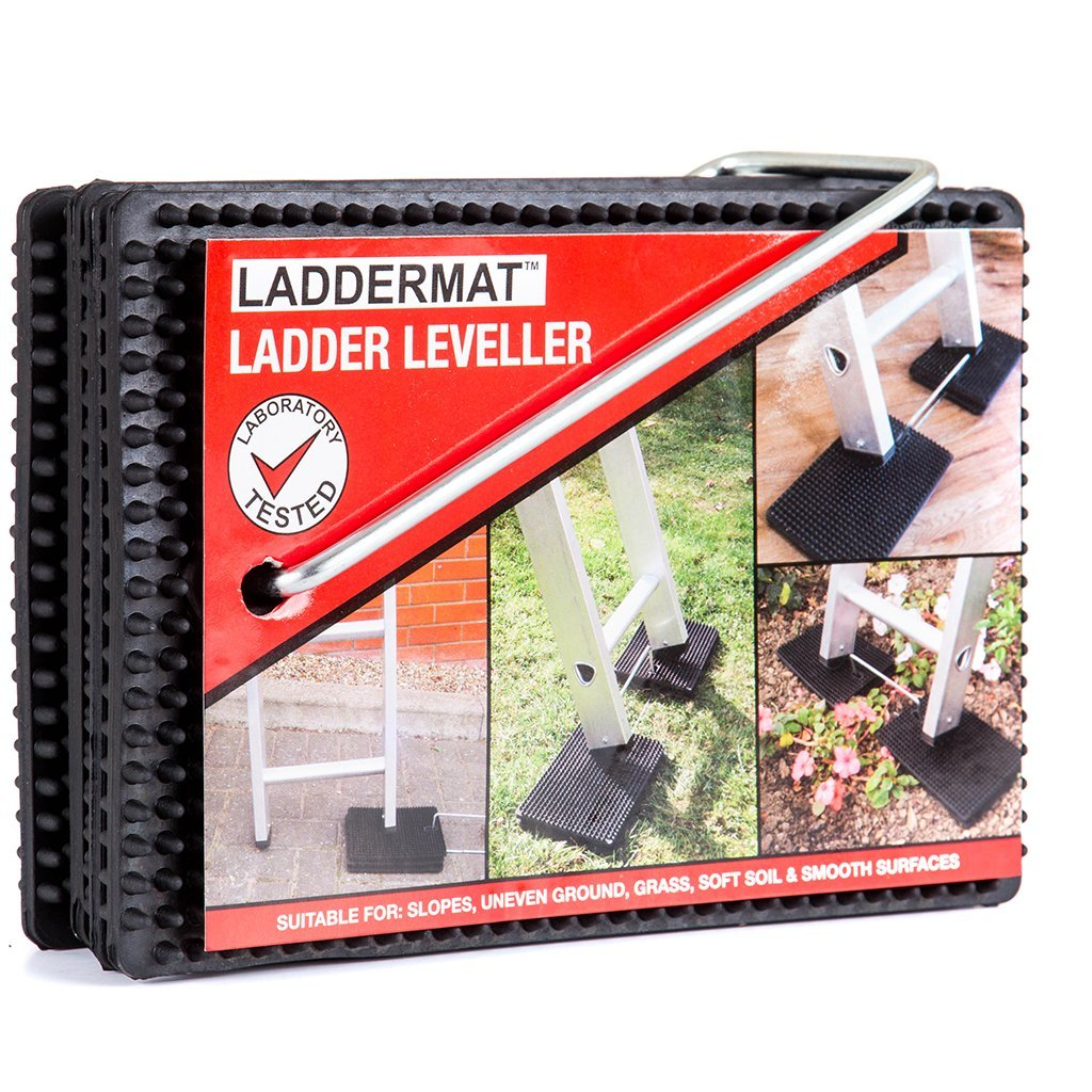 How to secure a ladder with anti slip ladder mat. Ladder Safetly